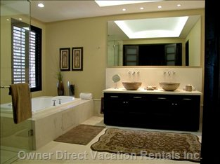 Beautiful Master Bath with Jet Tub and Steam Shower