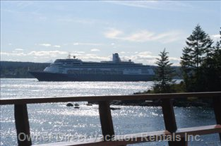 Watch the Cruise Ship Go by While on the Deck!