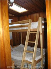 Bedroom 2 - with Double and Single Bunk-style Beds