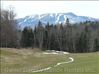 Views of Mont Tremblant from the Golf