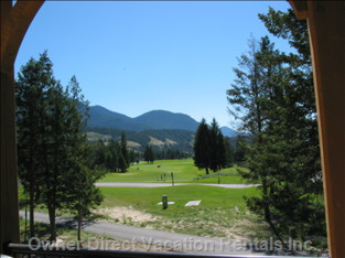 18th Green of Radium Springs Gc from Patio