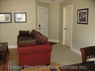 Great Room Leading to Front Door and Laundry Room