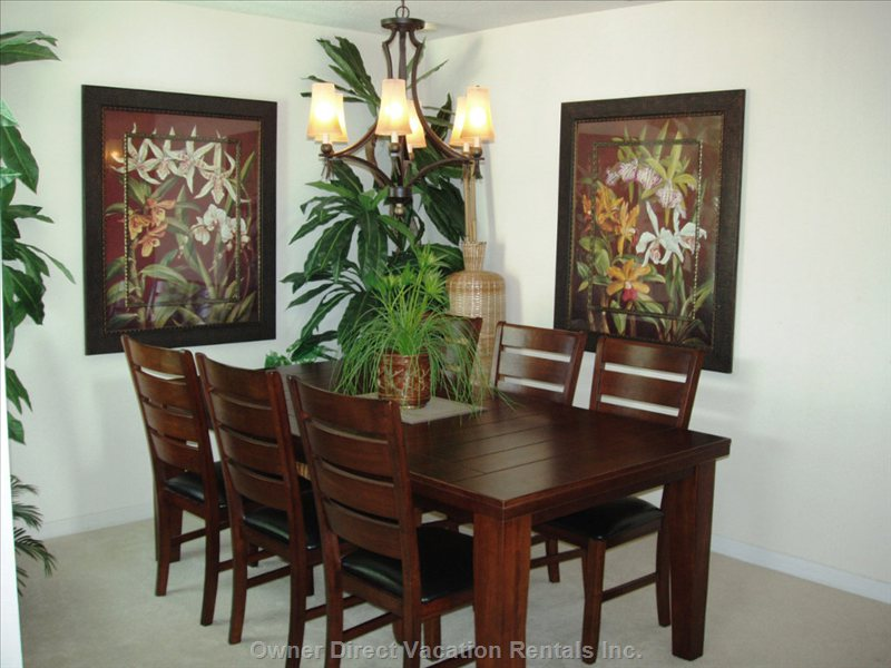 Spectacular, Brand New Dining Room Seats 8! - Eat in and save $$'S While you Relive the Adventures of the Day...
