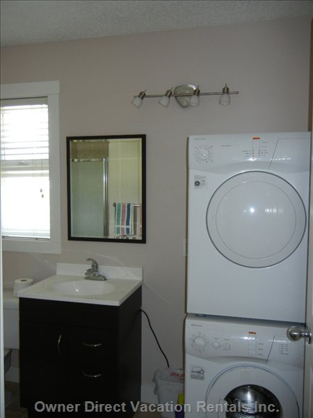 Bathroom - Shower and Compact Washer Dryer
