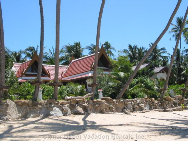 Beach from Front to the Villa