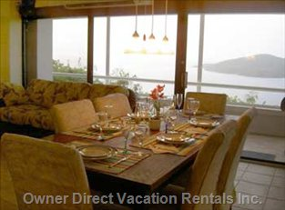 Dining Area with View of Ocean