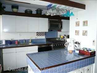 Galley Kitchen with High End Appliances
