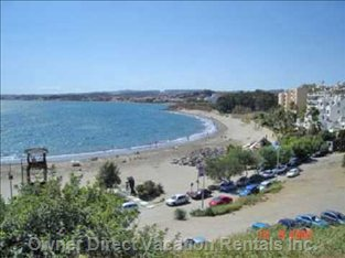 Beach with Chirringuito & Parking is 5 Mins Drive.