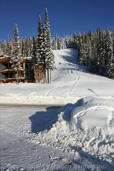 View from Driveway of Ski Runs.