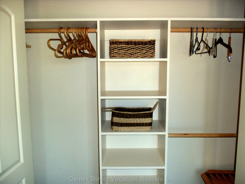 Spacious his & her Double Closet