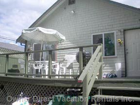 Your Large, Private Furnished Deck - Contains Pleny of Furniture, Fireplace Bbq and  Water Views