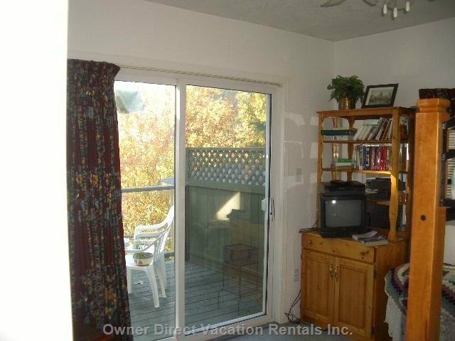 2nd Bedroom Patio Doors to Large Deck