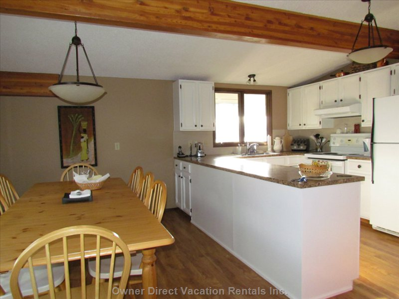Dining Room and Kitchen - Look out on Golf Course