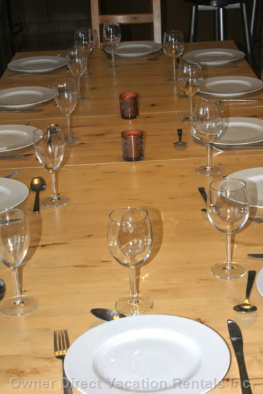 Large Dinner Table - Dining Table Will Seat 12 Persons