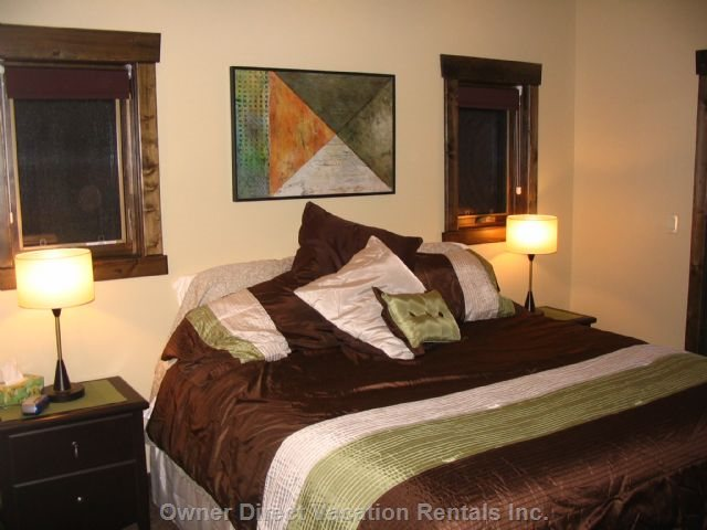 Master Bedroom~with Large Ensuite, Balcony with Seating, Gorgeous Views, Walk-in Closet, King-Size Bed