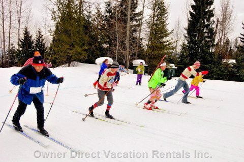 Cross Country Skiing ~ a Great Time for some Fun with the Family & Gorgeous Mountain Views