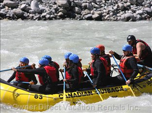 White Water Rafting Just 30 Minutes Away!