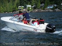 Rent a Motorboat - Horseshoe Bay is Just 10 Minutes Away.