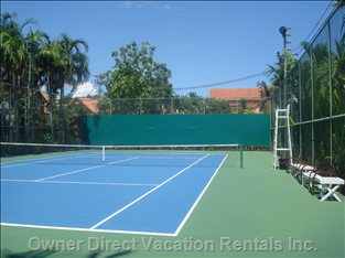 Tennis Court - a New Addition to the Leisure Facilities