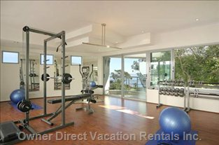 Fully Equipped Gym with Two Balconies