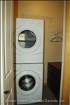 Stacking Whirlpool Washer and Dryer - 4 CU Ft Front Load Washer 6.7 Dryer, Iron and Ironing Board, Blankets and Sheets