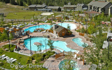 Upper Village Pools and Hot Tubs in the Summer