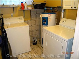 Laundry Room - Private Laundry Room with Large Washer and Separate Dryer