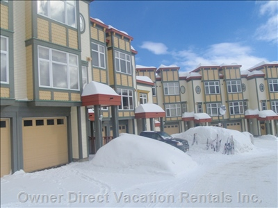 An Overview of your Townhouse.  Drive Right in to your Private Two-Car.  Ski in and out from your Door. Private Hottub & Free Internet.