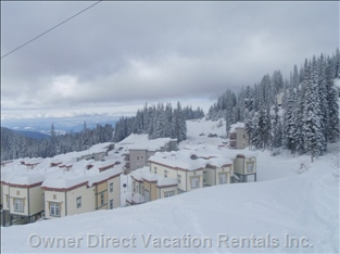 View of Townhouses on the Adjacent Ski Run.