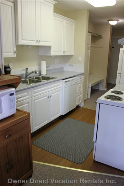 Kitchen - Fully Equipped with all Cooking Appliances and Utensils.