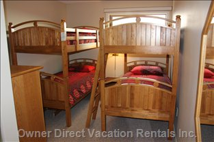 Kids Bedroom with 4 Bunk Beds.