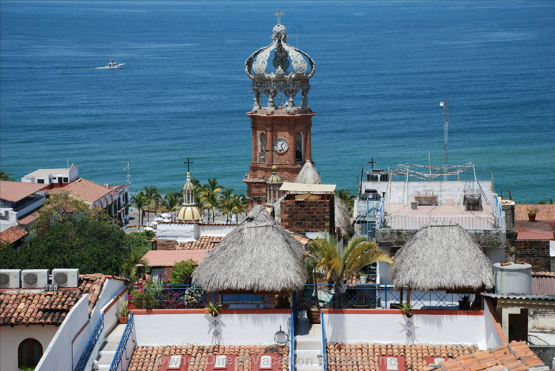 """La Casita"" is the Second Street above the Church ""Guadalupe""  Downtown Puerto Vallarta"