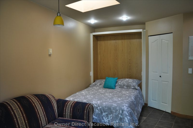 Double Murphy Bed with Lots of Light from Skylights