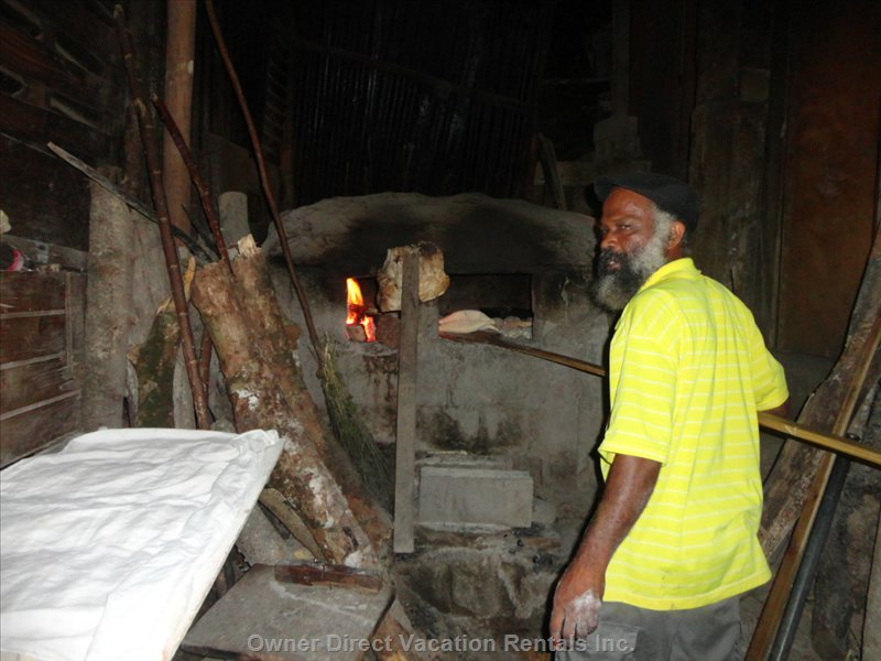 Baking Stone Oven Bread the Traditional Way on the Bar Des Isle.