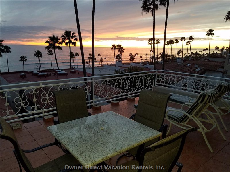 Enjoy a Beautiful Sunset Or Sunrise in our Ocean View Patio