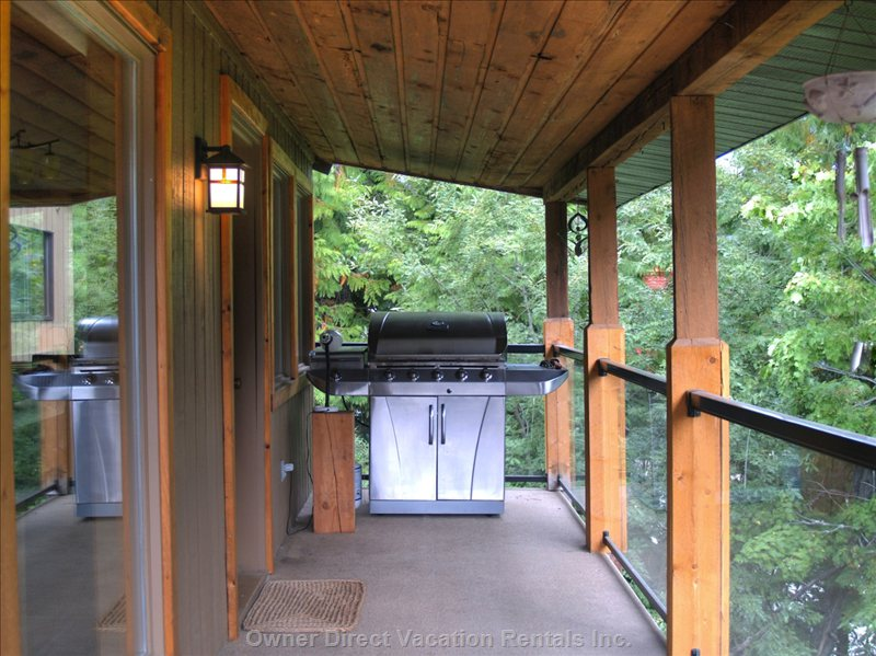 Nice Large Bbq in Covered Area