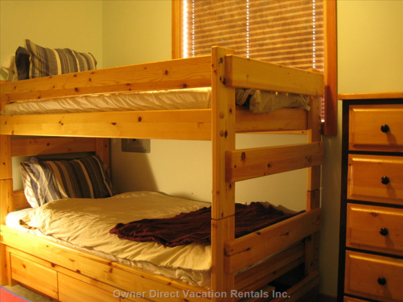 Kids Love Bunks.  Laundry Here Too.