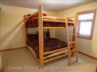 Queen Bunks in 3rd Bedroom.