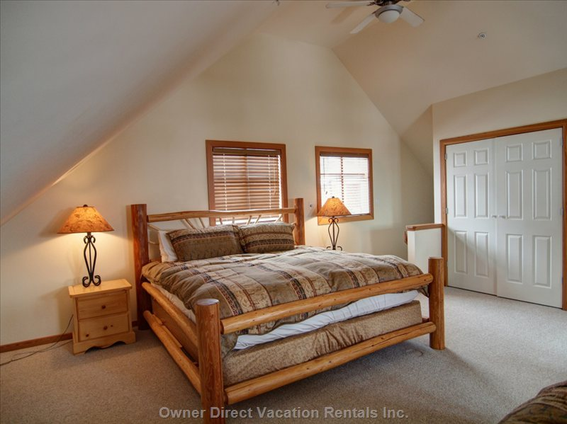 King Bed in Master Suite.