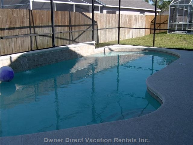 Pool (Heat Optional) with Child Safety Fence & 2 Waterfalls.