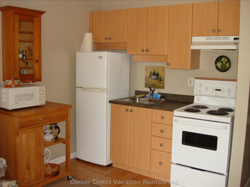 Kitchenette - Fully Equipped with Fridge/Stove/Microwave