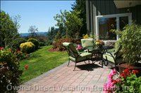 Looking Toward the Meadows and Olympic Mountains from your Private Patio