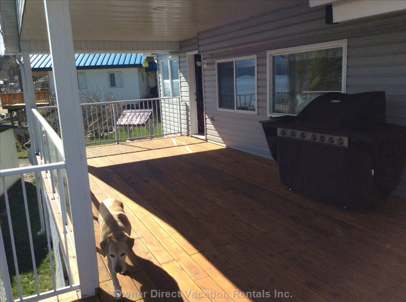 Separate Access to Master Bedroom and Great Room from Porch (Dog Not Included)
