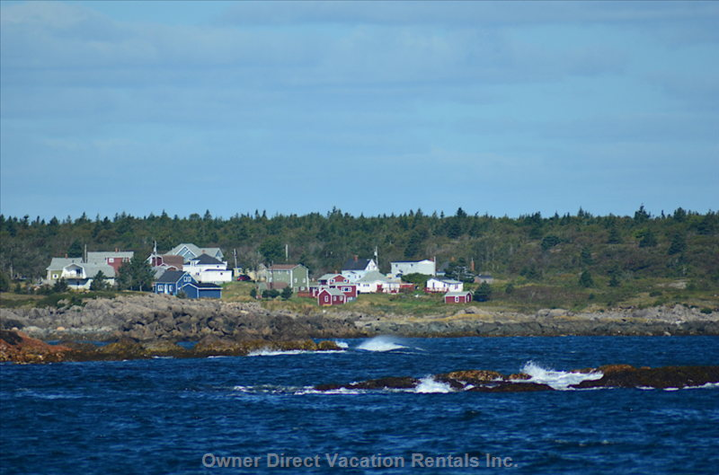 Our Lovely Old Fisherman'S House Sits on the Rocks at the End of the Quaint Fishing Village of Samson'S Cove