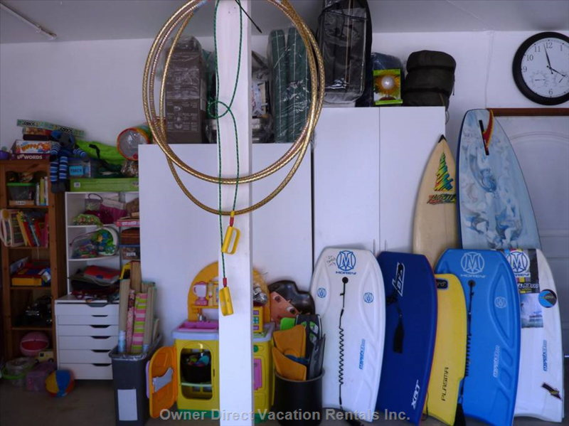 Help yourself to Boards, Games, Beach Chairs, Umbrellas, Towels and much more