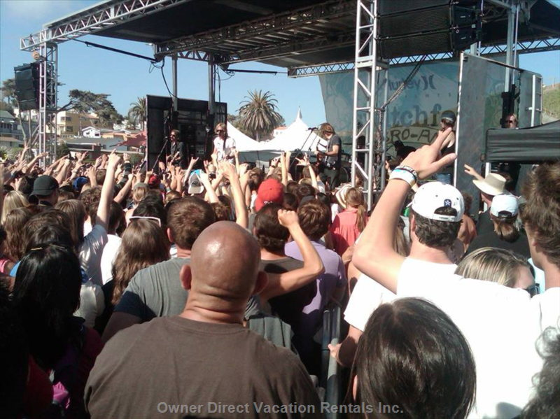 Switchfoot Concert (Pro Am Surf Contest) Once a Year at Moonlight Beach