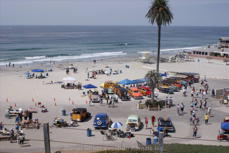 Annual Woody Show at Moonlight Beach