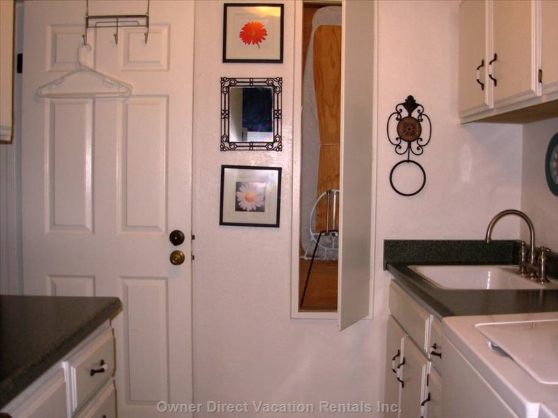 Laundry Room with Deep Sink  with Drop down Ironing Board and and Folding Area