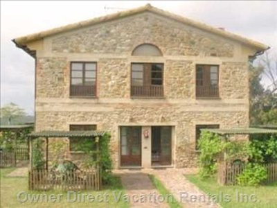 San Gimignano Volterra 2 Story Farmhouse Apartment