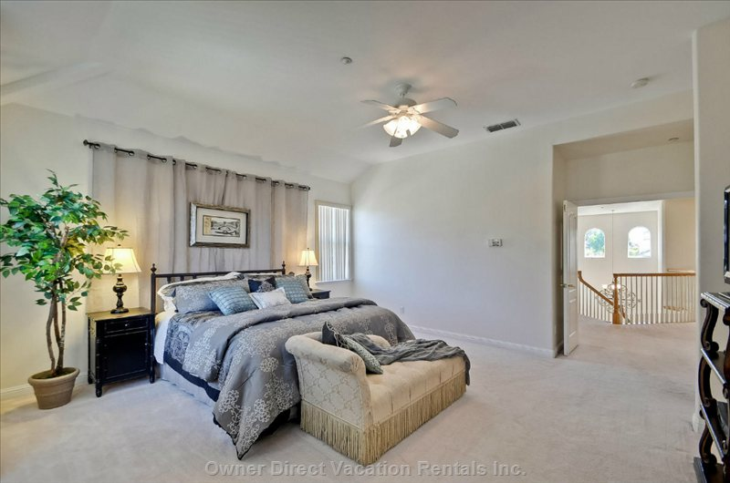 Master Suite with California King Bed.